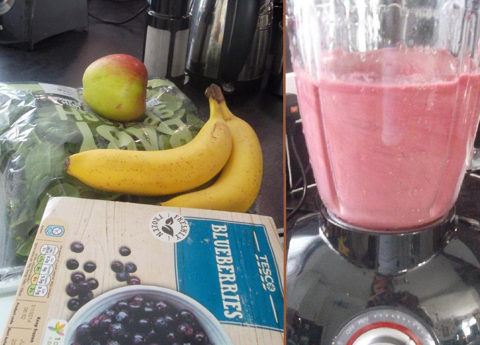fruits and vegetables in a smoothie