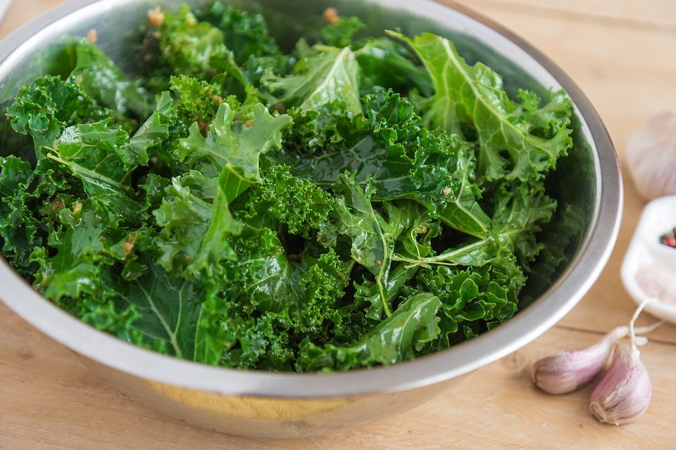 Kale is high in chlorophyll