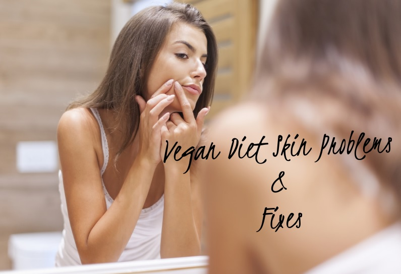acne and dry skin on a vegan diet