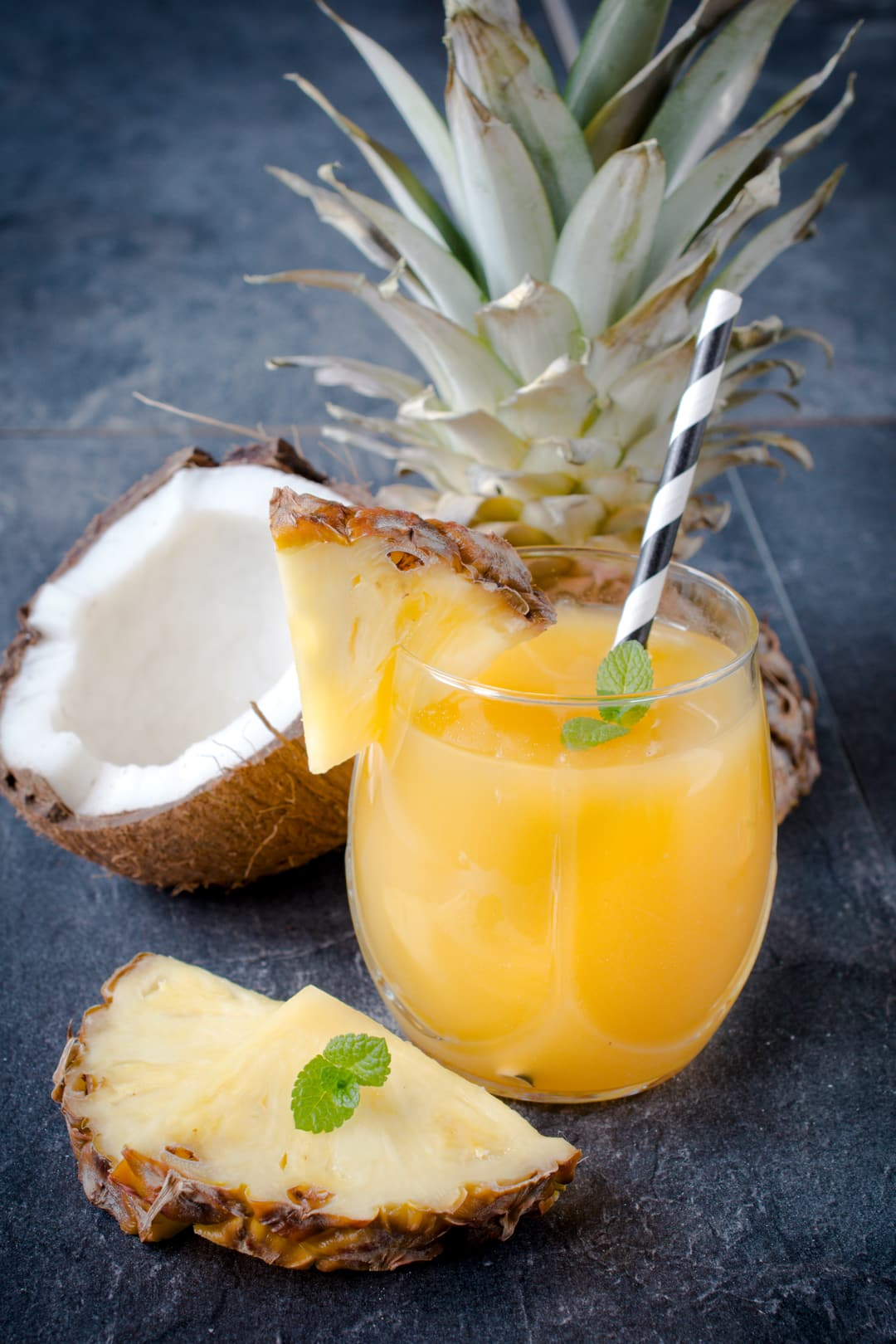 bromelain found in pineapples helps skin healing