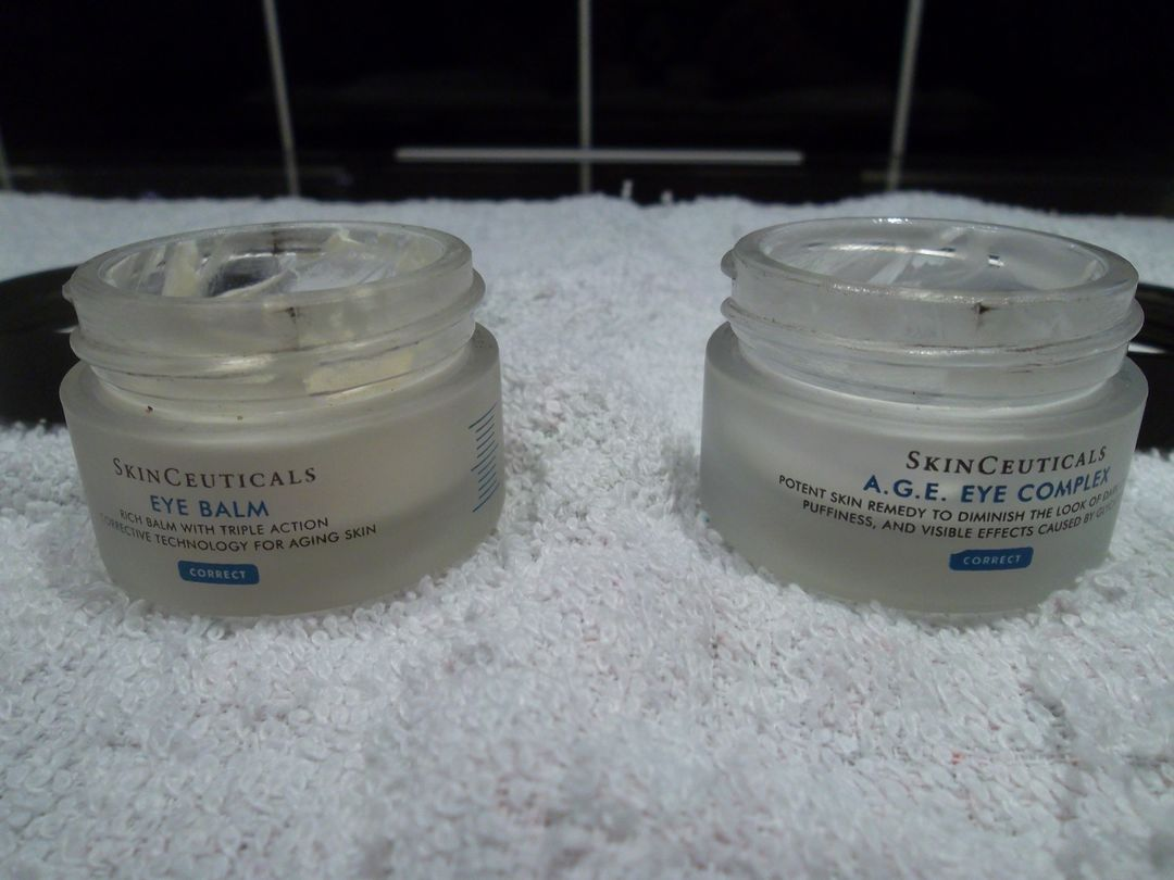 skinceuticals eye balm and A.G.E Eye Complex